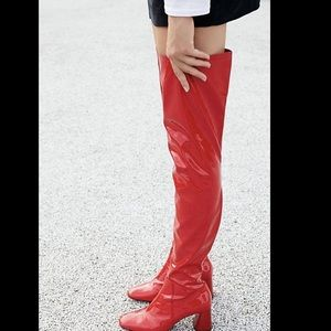 Jeffrey Campbell Patent Leather Over The Knee 6